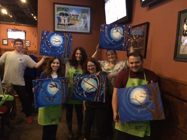 Members of our MCN-Northeast staff enjoy a 30th anniversary dinner and painting outing!