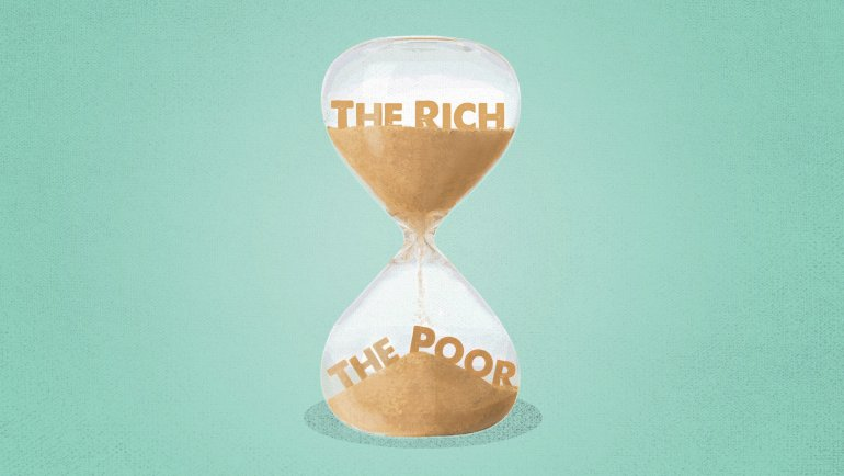 Life expectancy gap for rich and poor